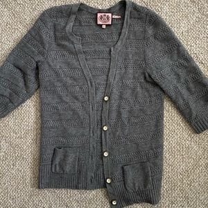Wool & Angora Gray Oversized Cardigan